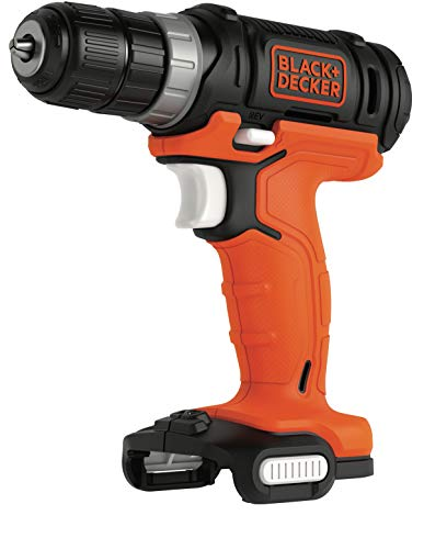 Black+Decker BDCDD12USB Cordless Drill 12 V with LED Work Light for Drilling and Screwing Includes 1 Double Bit, Battery and Charging Cable Not Included