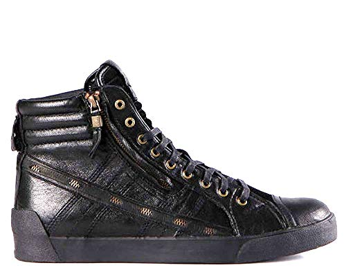 DIESEL Stivaletto Uomo D-String Plus Zip Leather Black - 42, Black