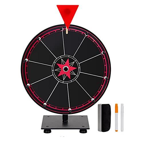 BASOYO Rueda de 12 pulgadas de Preisrad Dry Erase Wheel of Fortune con trípode para spinning Game Party Pub Tradeshow