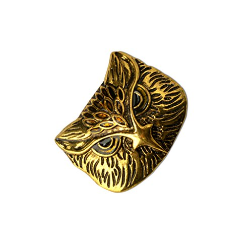 F Fityle Sacchetto Antico dei Monili di Modo Dell'animale del Bronzo Dell'oggetto D'antiquariato del Perno della Spilla del Gufo per Il Regalo