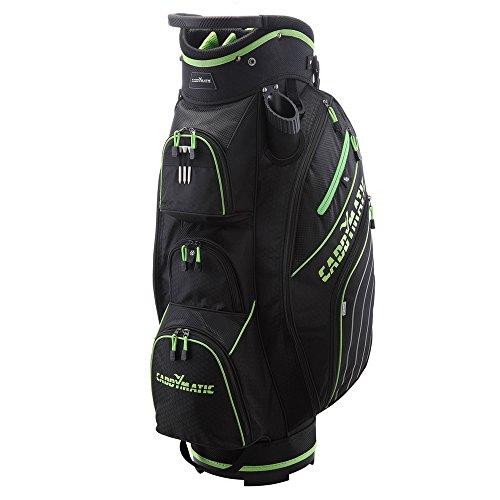 Caddymatic Golf Deluxe 14-Way Cart Bag Black/Green