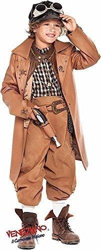 Fancy Me Italian Made Deluxe Kinder Viktorianisch Steampunk Halloween Kostüm Kleid Outfit Plus Zubehör 3-10 Jahre - Jungen, 10 Years