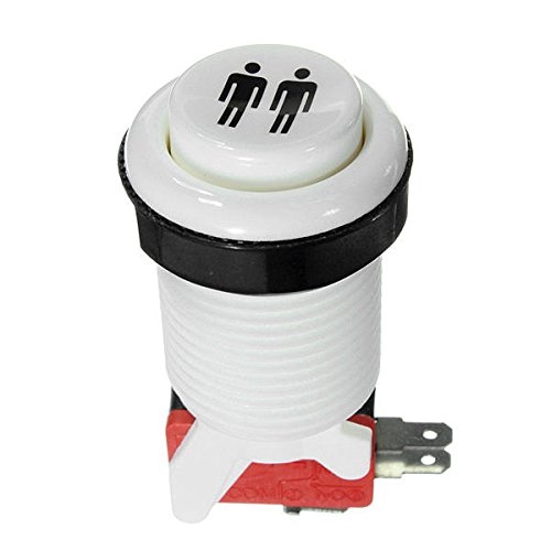 SHANG-JUN Fácil de Montar Arcade Push Button Durable Interruptor Largo Multicolor 5V Conveniente (Color : White Two)