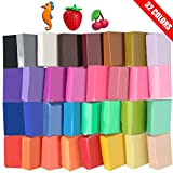 Super Valuable 32 Colors Small Block Polymer Clay Set Oven Bake Clay, Tomorotec CPSC Conformed Non-Toxic Molding DIY Clay Oven Baking Clay for Kids, Artists (Softer)