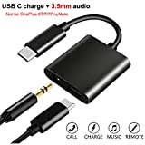 USB C to 3.5mm Headphone Adapter with Fast Charging Compatible for Pixel 4 4XL 3 3XL 2 2XL, Galaxy...