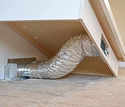 Toe Ductor Base Board Vent Under Cabinet Toe Kick Ducting Kit