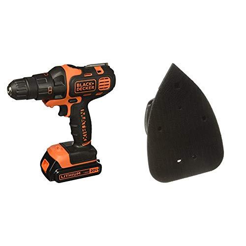 BLACK+DECKER 20V MAX Matrix Cordless Drill Combo Kit, 2-Tool with Matrix Sander Attachment (BDCDMT120IA & BDCMTS)