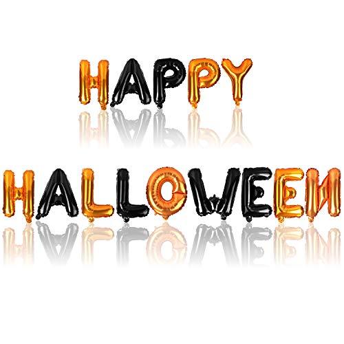 com-four Globo Happy Halloween - Globo de Aluminio para la decoracin de Halloween - Guirnalda de Globos de Halloween