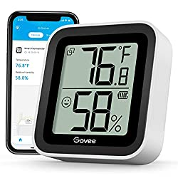 Govee Bluetooth Hygrometer Thermometer, Indoor Temp Humidity Sensor with Notification Alert & 2s Refresh Speed, 2 Years Data Storage Export, Suitable for Room Greenhouse Wine Cellar Basement
