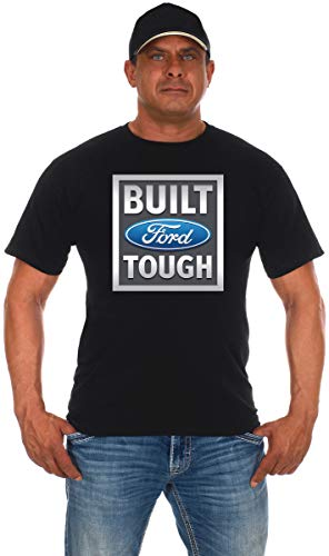 Men's Ford Truck T-Shirt Built Ford Tough Crew Neck Shirt (X-Large, BFT Black)