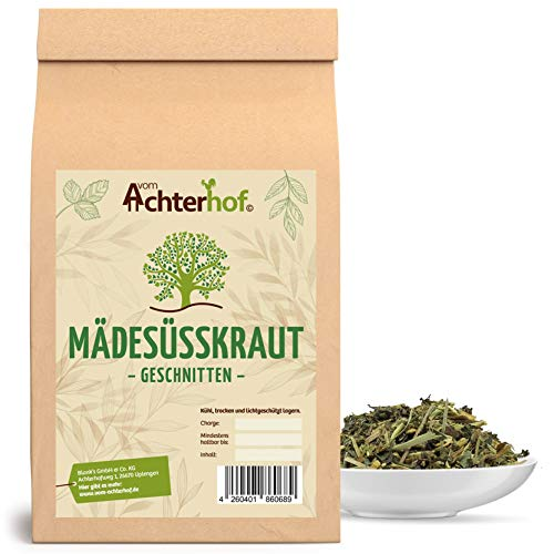 Mädesüß geschnitten getrocknet 500 g Mädesüßtee - Mädesüßkraut - Kräuter-Tee natürlich vom-Achterhof