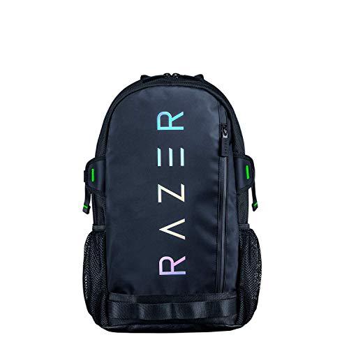 Razer Rogue V3 17.3 Chromatic Edition Mochila de Viaje Compacta, Compartimento para Portátiles de hasta 17 Pulgadas, Resistente a la Abrasión, Carcasa Exterior de Poliéster, Color Negro