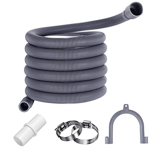 XINCHAO 3M Tubo di Scarico per Lavatrice Kit di Prolunga Tubo di Scarico Prolunga Tubo di Scarico per Lavatrice e Lavastoviglie