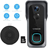 WiFi Video Doorbell Camera, Wireless Security Doorbell, 32GB Pre-Installed,...