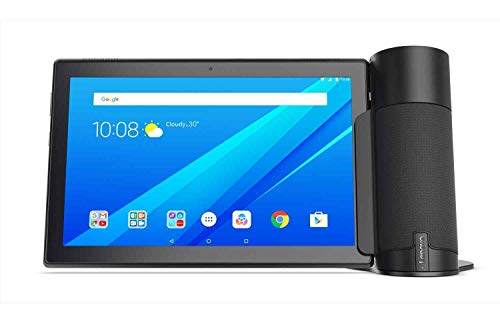 Lenovo Tab 4 (ZA2K0139GB) 10.1' 4G LTE Tablet Bundled with Lenovo Tab 4 Smart Assistant Speaker, Qualcomm MSM8917 Processor, 2GB RAM, 32GB Storage, IPS TFT Display, Android 7.1 - Black