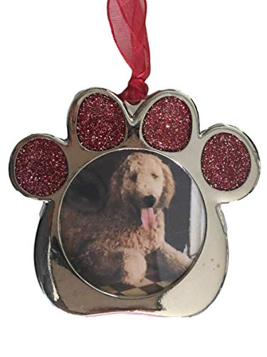ZIPPYAR Christmas Ornament Video Recordable. Personalize This Pet PAW Ornament with Picture and Video. Green Technology. No Battery Required. Requires ZIPPYAR Free App
