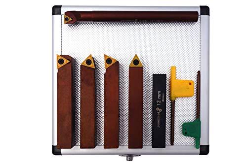 PAULIMOT Drehmeißel-Set mit Wendeplatten, 16 mm, inkl. Bohrstange Ø 12 mm
