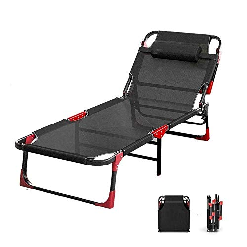 qwe XISABCS Portable Folding Bed, Home Simple Lunch Bed Office Adult Siesta Lounge Chair