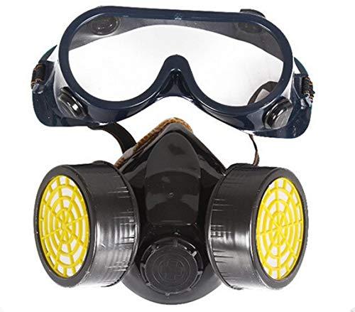 Chimique Industriel Gaz Anti-poussière Spray Peinture Masque Respirateur + Lunettes