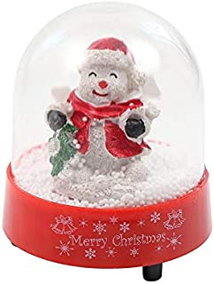 Lightahead Christmas Musical Snow Globe with Snowman Inside, Falling Snowflakes