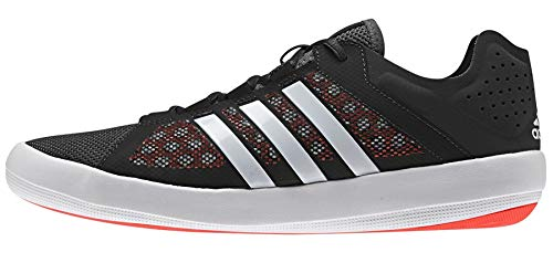adidas Sailing Damen Herren Deckschuh Ta01 Bootsschuh, Größe:41 1/3 EU, Farbe:Black/White/Solar Red