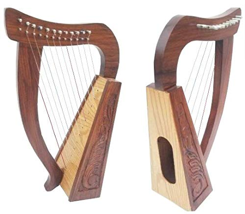 Arpa in palissandro massiccio irlandese, 12 corde,...