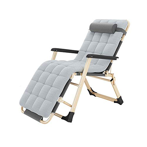 YUPING Folding Chair Office Single Lunch Break Bed Home Multifunctional Balcony Lounge Chair, Pearl Cotton Pad