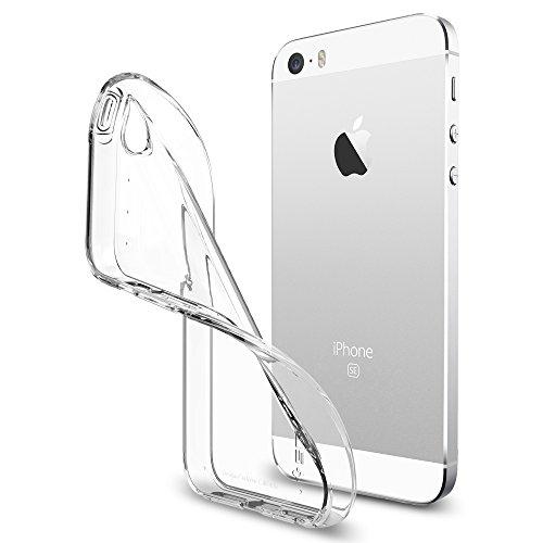 Spigen Cover iPhone 5S, Cover iPhone SE 2016 Liquid Armor Progettato per iPhone 5S / 5 / SE 2016 Cover Custodia - Crystal Clear