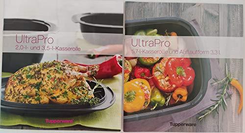 TP Tupper TUPPERWARE Rezepthefte 3,5L+2,0L und 5,7+3,3L Kasserolle Ultra Pro Kochen Kochheft