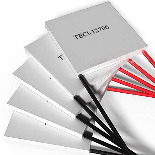 Peltierelement Thermoelectric Module Peltier TEC 12V [TEC1-12706] [60W] [5 Stück] | Thermoelektrische Kühlung Element Chiller Heatsink Kühlkoerper Kühlbox Generator Cooler