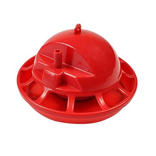 Yardwe Abbeveratoio Automatico per Galline Pulcini piccioni Quaglie Anatra e avicoli 2 Pezzi (Rosso)