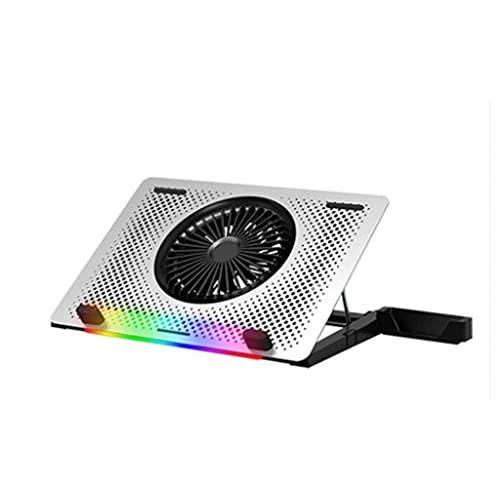 BWCGA Ventilador del Panel de Malla de Acero LED Ajustable de Control de Velocidad 10'-17' Laptop cojín de enfriamiento, refrigeración Bracket