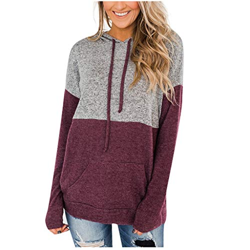 Fantastic Prices! Amlaiworld Women Winter Jumper Blouse Long Sleeve Splice Pullover Hoodies Sweatshi...