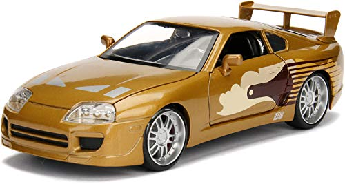 Jada 2 Fast 2 Furious Slap Jack's Toyota Supra Die-Cast Collectible Toy Vehicle Car, Gold with Decals, 1: 24 Scale, Copper