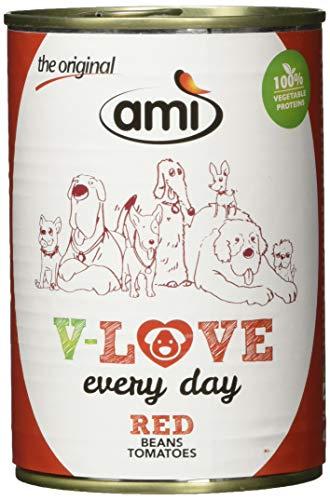 AMI veganistisch nat voer voor honden V-Love Red, 12 stuks (12 x 400 grams)