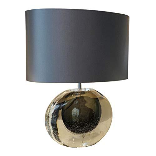 Light for Bedrooms Luxury Glass Table Lamp Modern Design Lamps Bedside Lamp for Home Decor Nightlight for Living Room Bedroom Tabletop Entryway Gift Living Room lamp (Color : Black)