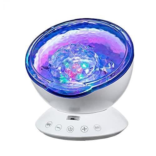 NaisiCore Cielo Estrellado de Proyección Proyección Luces LED USB lámpara de Control de Marca de Agua Proyector de la música Decoración de la lámpara a Distancia utilizados para el Interior Blanco
