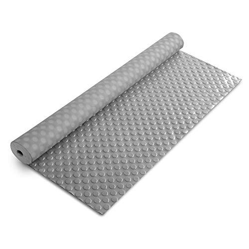 Flachnoppen PVC Bodenbelag | 2,2 mm Stärke | rutschhemmender Belag für Böden in Werkstatt, Garage, gewerbliche Räume uvm. | viele Farben & Größen (grau - 120x500 cm)