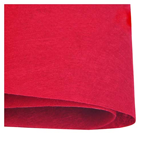 XIAOZHEN Telas para Coser Fieltro para Manualidades por Metros 85cm de Ancho 1mm de Grosor para Costura y Artesanías de Bricolaje(Color:Vino Rojo)