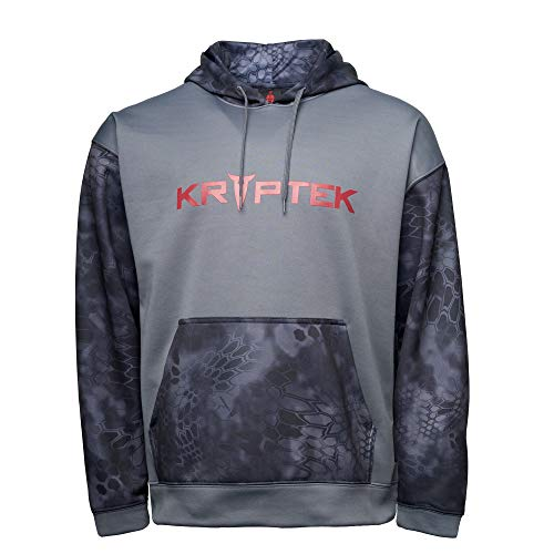 Kryptek Men's Mars Hoodie, Typhon/DK Charcoal, L