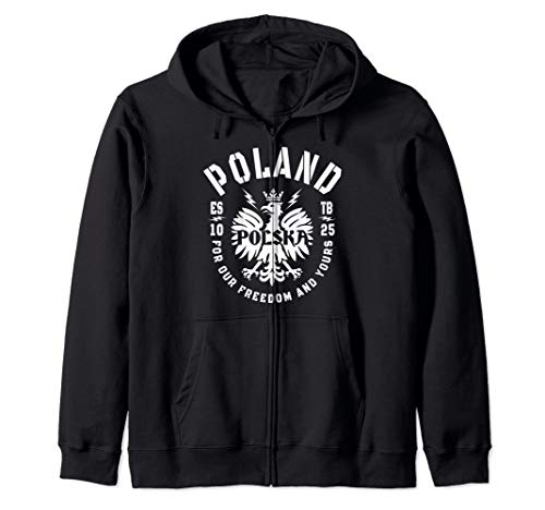 Polish Flag - Polska Eagle - Poland History - Polska Poland Zip Hoodie