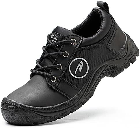 spordeff Work Steel Toe Shoes Safety Shoes for Men Lightweight Industrial & Construction Shoe Slip Resistant Waterproof Work Shoe