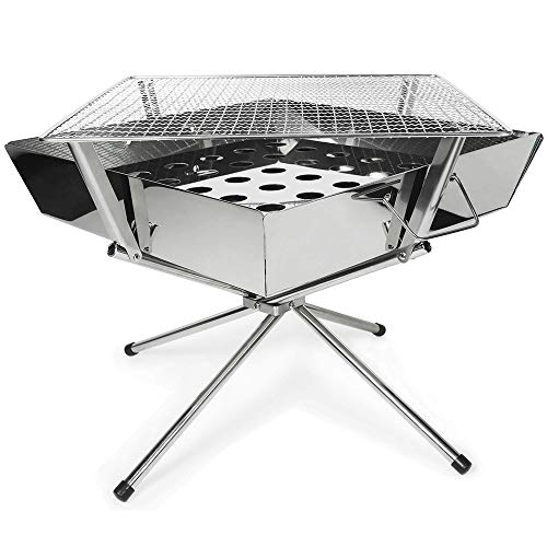 Guotail BBQ Stove Bonfire Grill Compact Stainless Steel BBQ Outdoor Camping with Storage Bag