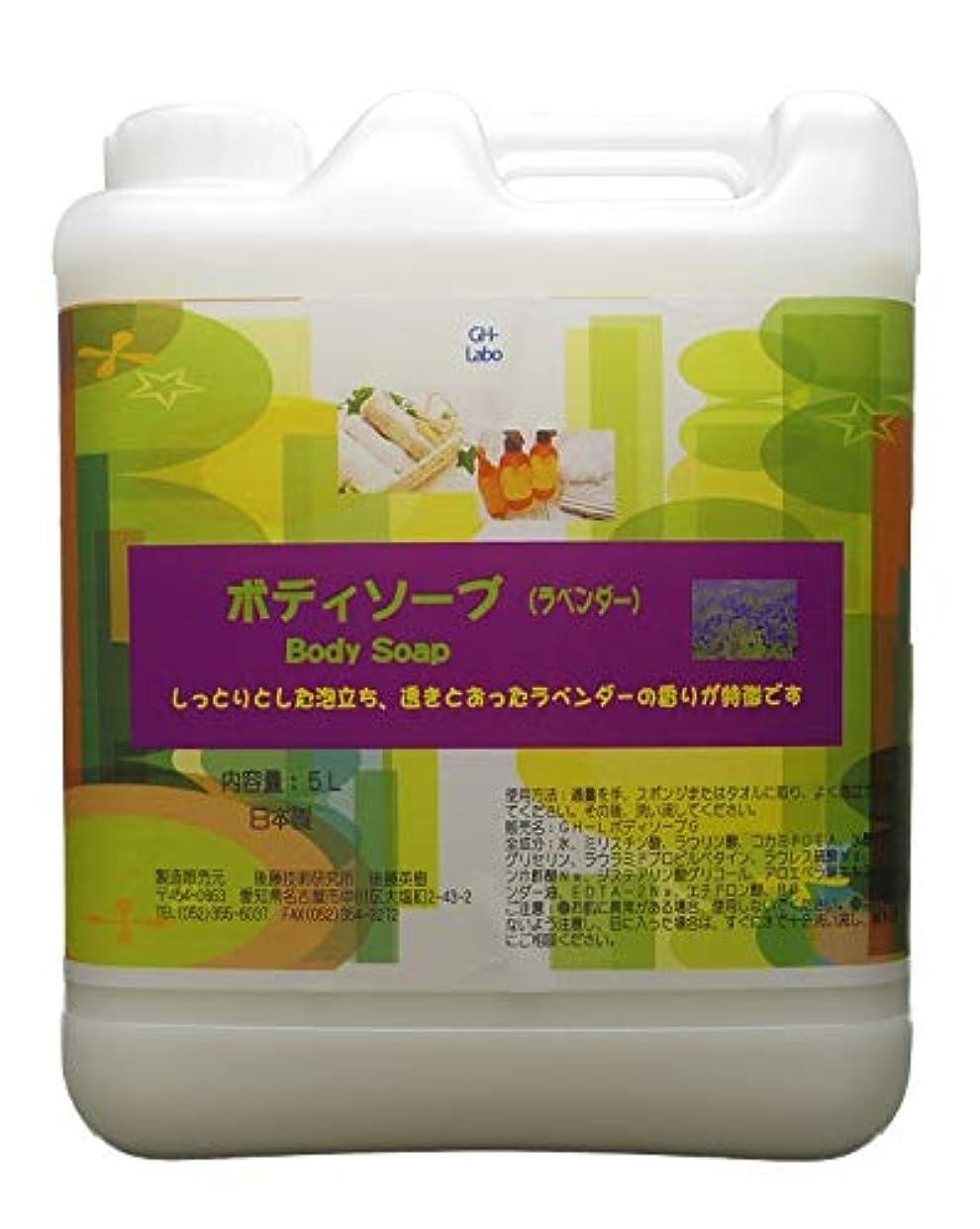 キャンセル十一プライバシーGH-Labo 業務用ボディソープ ラベンダーの香り 5L