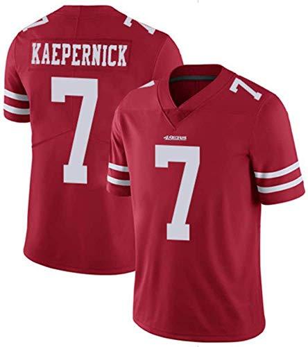 Camiseta de fútbol de la NFL para hombre, diseño de San Francisco 49ers 7# Colin Kaepernick, camiseta deportiva de manga corta, color rojo, talla S