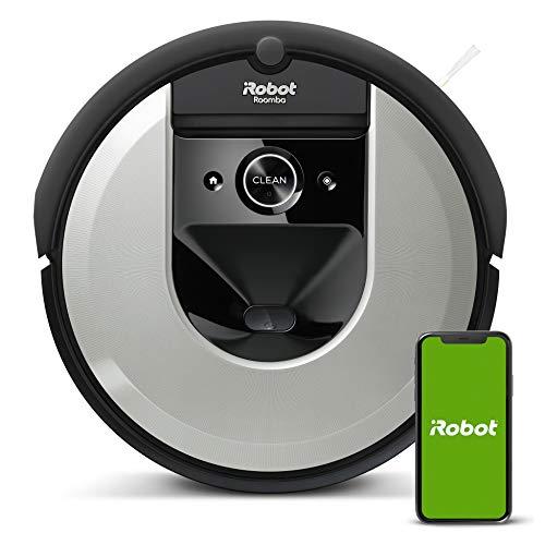iRobot Roomba i7+ (i7556) Saugroboter, automatische Absaugstation, intelligente Raumerfassung, Zeitplanreinigung, 2 Multibodenbürsten, WLAN Staubsauger Roboter, App-Steuerung, Ideal für Tierhaare