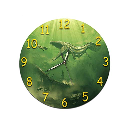 LUOYLYM Geschenk Uhr Wanduhr Acryl Mute Movement Clock Wandaufkleber Clock Borderless Wecker  D-490 (Luminous Hands) 28cm