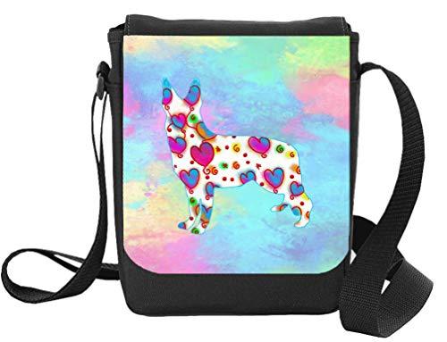 Bag Pixie Bolsa de pastor alemán para reportero alsaciano/pastor alemán, con diseño de corazones, regalo para Navidad, cumpleaños, día de la madre