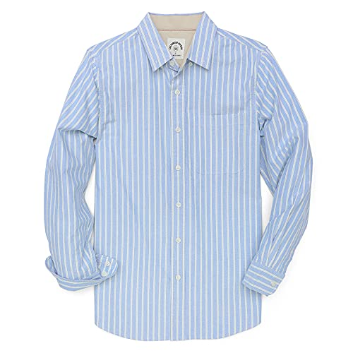 Dubinik® Camisas para Hombre Camisa Casual de Manga Larga Camisa con Botones Oxford para Hombre