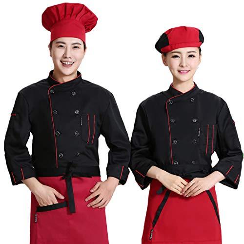 IOSHAPO Arbeitskleidung für Männer und Frauen Bequeme und langlebige langärmelige Bäckerei Backwaren Konditor Arbeitskleidung